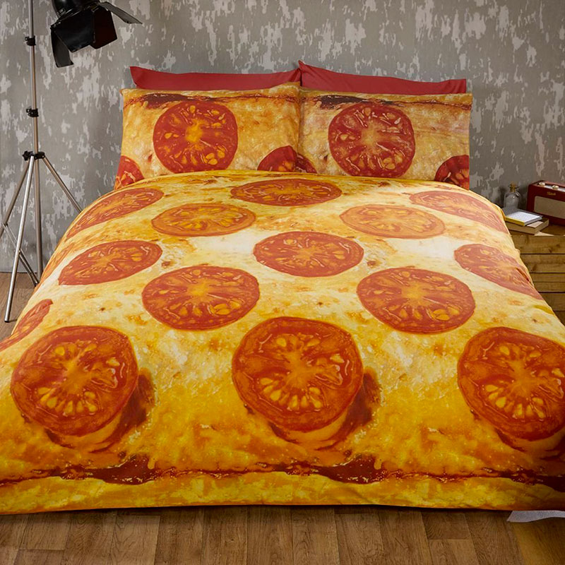 housse couette pizza