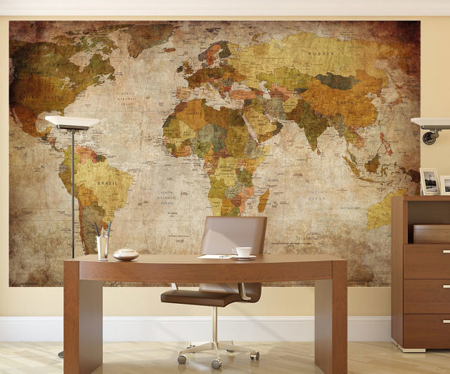 poster mural g ant carte du monde mappemonde avis et. Black Bedroom Furniture Sets. Home Design Ideas